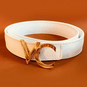 cinturón Blanco de cuero